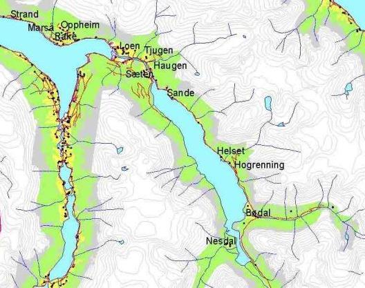 lodalen kart Bygdeskildring Loen sokn lodalen kart