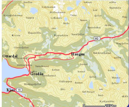 kart hornindal Stryn kommune. Oversikt kart hornindal